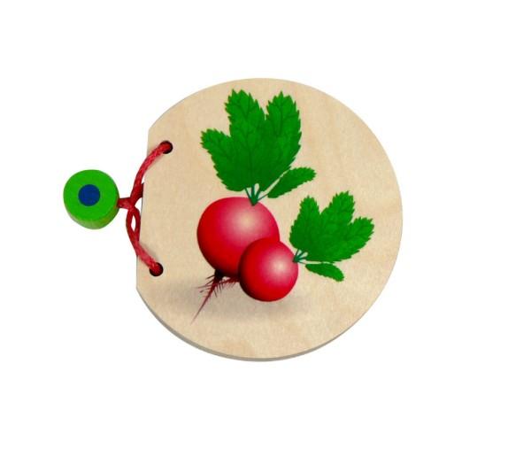 Bilderbuch aus Holz Gemüse