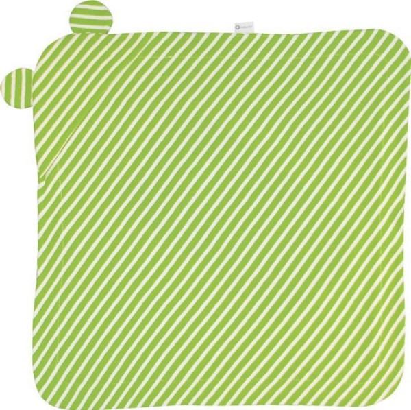 Baby-Waschlappen HUGGYin grün-weiß gestreift von Cottonful