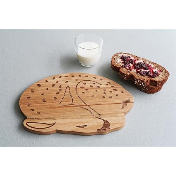 Frühstücksbrettchen aus Holz im Reh-Design von THE ZOO