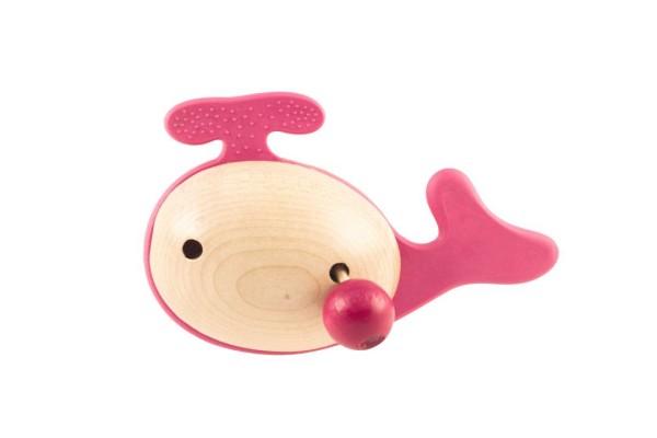 Holz-Greifling JonO+ WAL in rosa für Mädchen