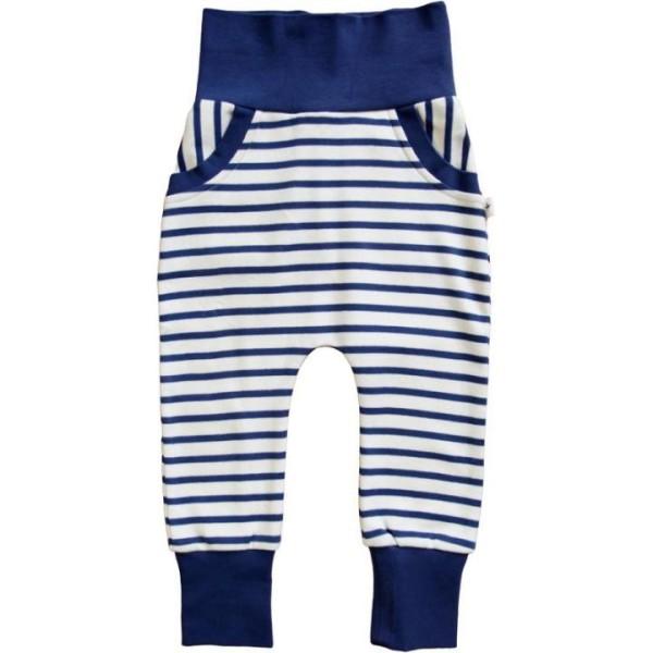 Leela Cotton Baby-Haremshose Maritim nany-natur Streifendesign