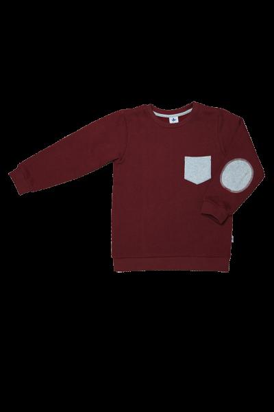 Baby & Kinder Sweatshirt Fleece Ziegelrot aus Bio-Baumwolle von Leela Cotton