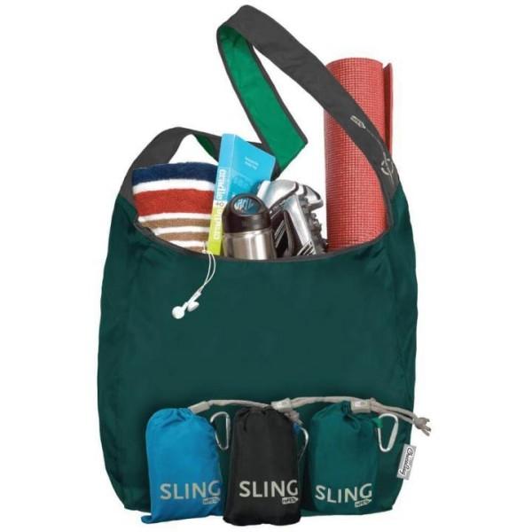 faltbare Mehrwegtasche SLING rePETe von Chicobag in grün
