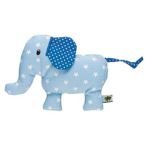 Baby-Rassel Elefant für Jungs in blau von Die Spiegelburg