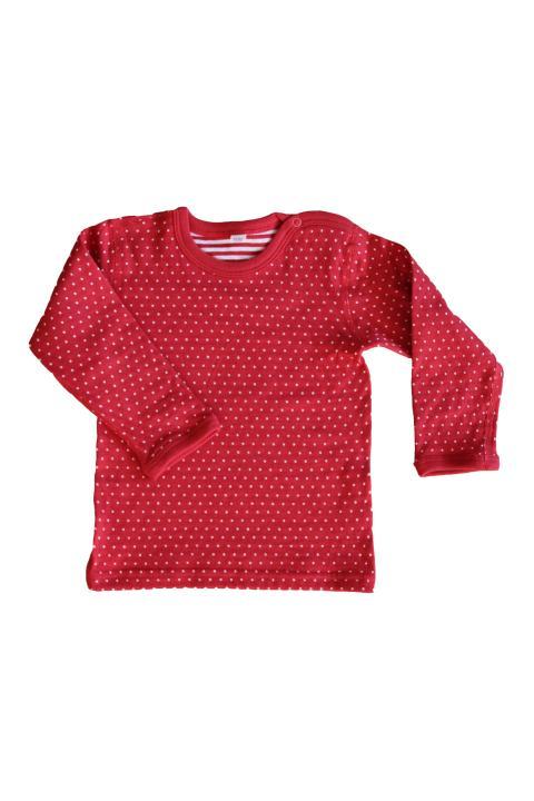 Vorschau  Wendelangarmshirt Pünktchen rot-weiß aus Bio-Baumwolle von Leela  Cotton ... 033379ce33