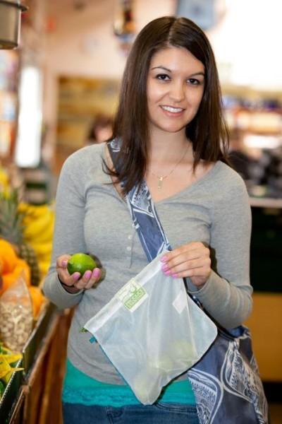 VeggieBags MAXI Obstnetz & Gemüsenetz mit Reißverschluss