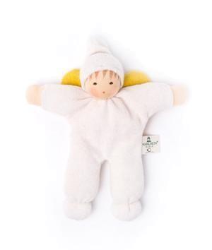 Nanchen Puppe Püppchen KLEINER ENGEL mit Mütze aus Bio-Wolle