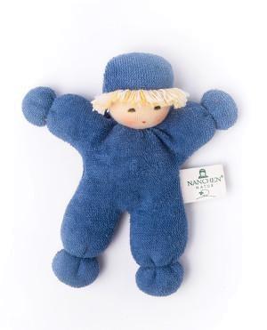 Nanchen Puppe Püppchen ERBSENKIND in blau