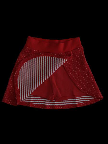 Baby & Kinder Hosenrock Pünktchen Rot-Weiß von Leela Cotton - GOTS