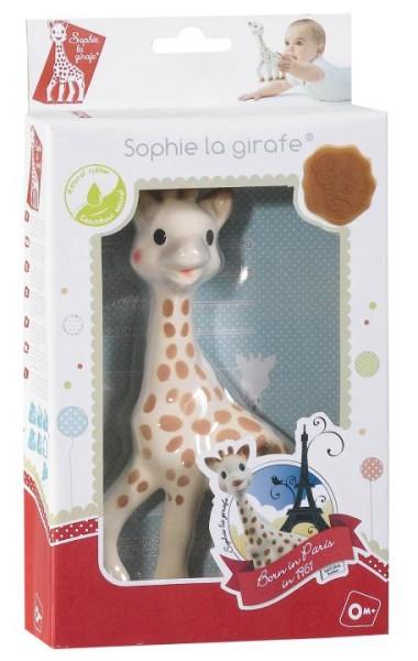 Sophie la girafe Greifling Gireaffe im Geschenkkarton rot-weiß