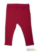 Baby-Leggings in rot aus GOTS Bio Baumwolle von iobio