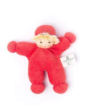 """Nanchen Puppe /""""Erbsenkind/"""" Bio-Baumwolle//Bio-Schurwolle 14 cm"""