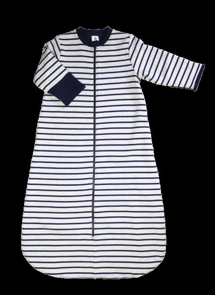 Leela Cotton Baby Wende-Schlafsack mit Ärmeln Fleece Marineblau a516e916a6