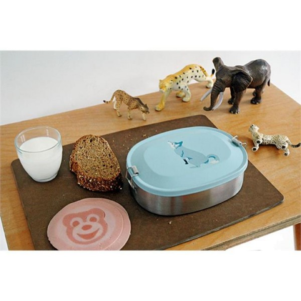 Brotdose aus Edelstahl mit Wolf-Motiv von THE ZOO