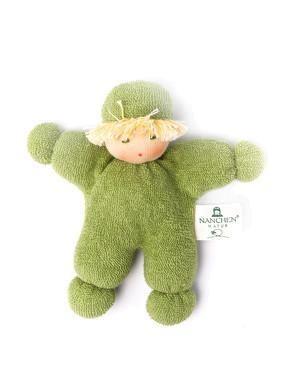 Nanchen Puppe Püppchen ERBSENKIND in grün