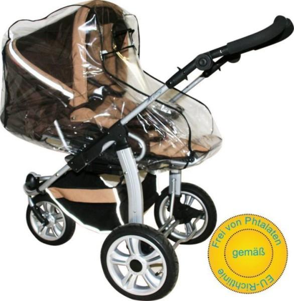 Regenschutz für moderne Kinderwagen mit Umsetzer