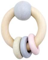 Hess Baby-Rundrassel aus Holz mit 3 Ringen für Mädchen