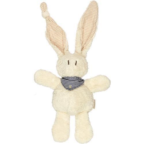 Kuscheltier Hase Tjumm aus Bio Baumwolle mit blauem Halstuch
