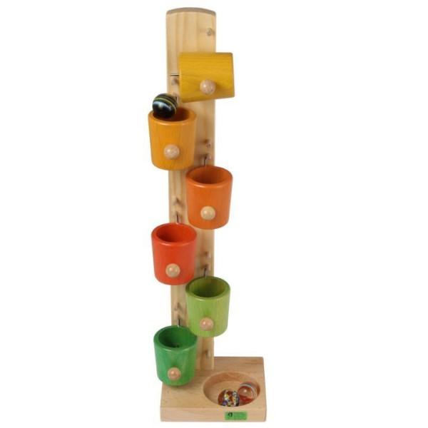 Kullerbecher mit Glaskugeln von Beck-Holzspielzeug