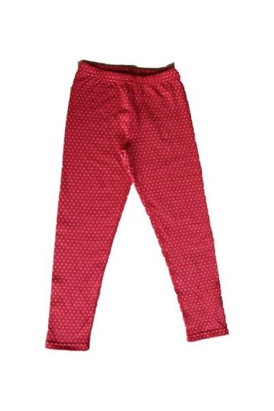 Wendelleggings Pünktchen Rot-Weiß für Babys & Kinder von Leela Cotton