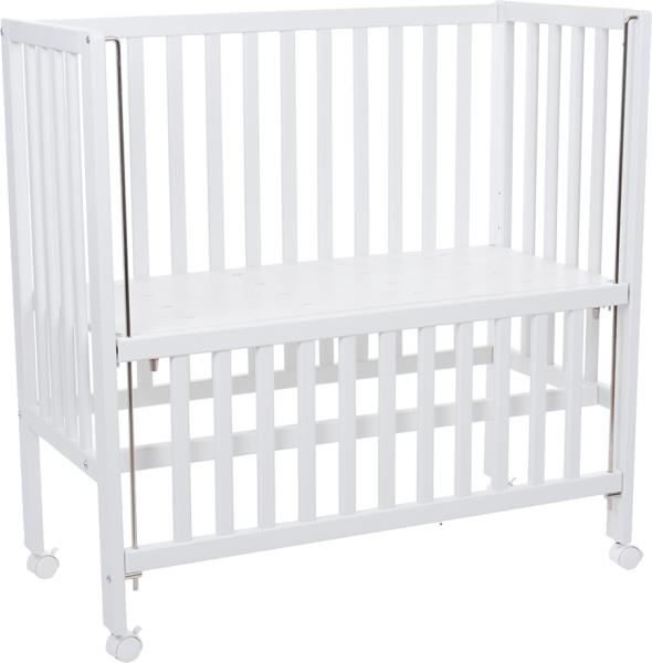 Baby-Beistellbett mit Rollen COCON PLUS in weiß aufgeklappt von Fillikid