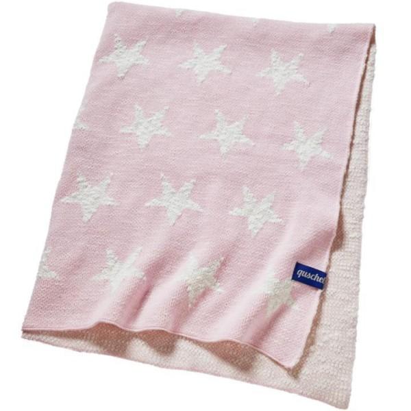 quschel Bio Babydecke Himmel voller Sterne in rosa GOTS