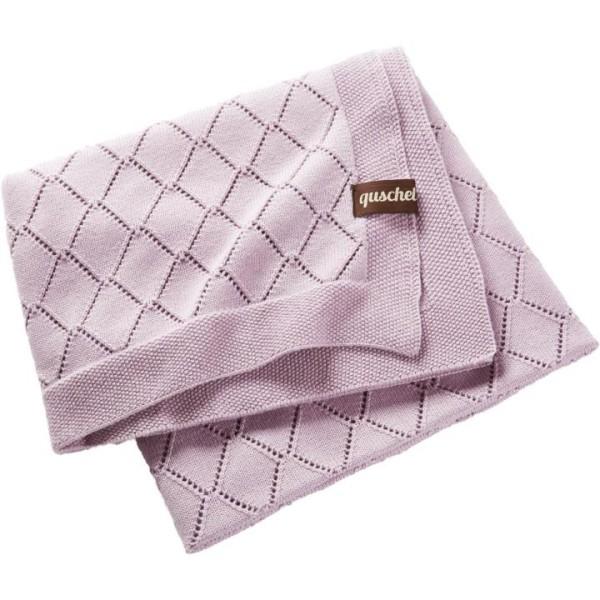 quschel Babystrickdecke in rosa für Mädchen