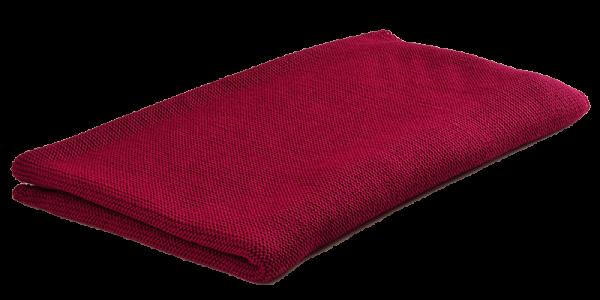 Babydecke Puckdecke 95x80 aus BIO Schurwolle in rot