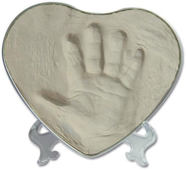 Hand & Fußabdruckset HAPPY HANDS in Herzform von yplorys