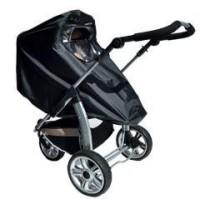 Kinderwagen-Regenverdeck groß aus PE-Folie und Stoff