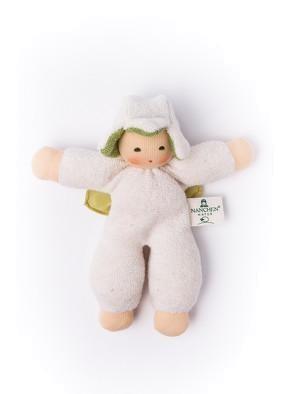 Nanchen Puppe Püppchen BLUMENFEE in natur aus Bio Schafswolle