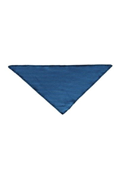 Baby Dreieckstuch aus Bio Baumwolle petrol-hellblau gestreift von Leela Cotton