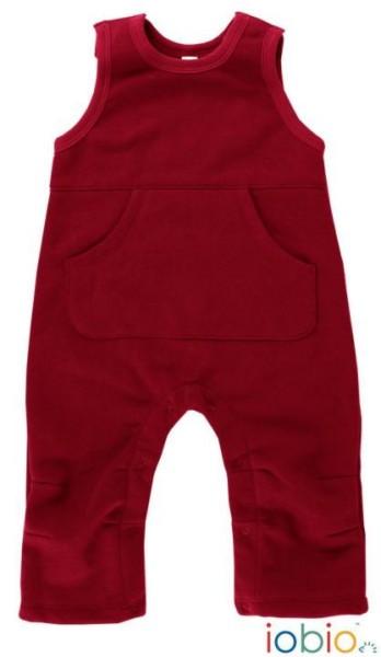 Baby Latzhose aus Bio Cord Baumwolle in Rot mit Taschen von iobio