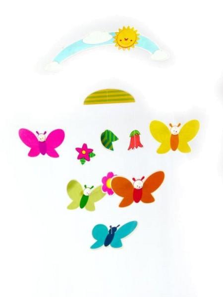 Hess-Spielzeug Babymobile Natur SCHMETTERLINGE mit Sonne