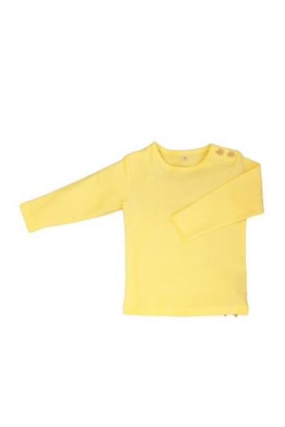 Leela Cotton Langarmshirt für Kinder Bio Baumwolle in Mais-Gelb