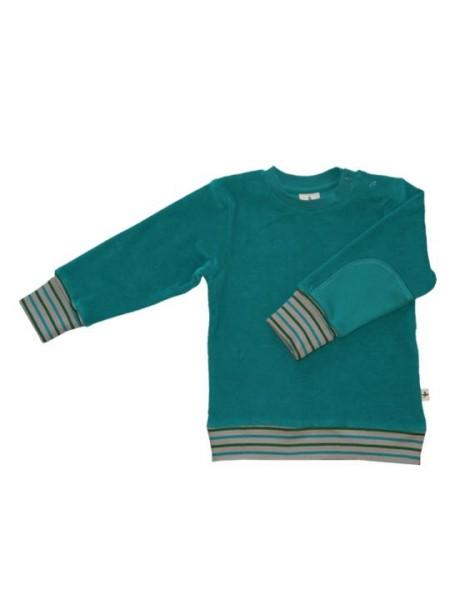 Nicky Sweatshirt Wattenmeer in ozeanblau Bio-Baumwolle von Leela Cotton