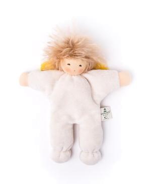 Nanchen Puppe & Schmusetuch KLEINER ENGEL mit Haaren