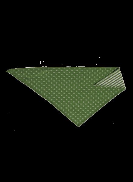 Leela Cotton Dreieckstuch Weserstrand für Kinder & Babys in grün-beige