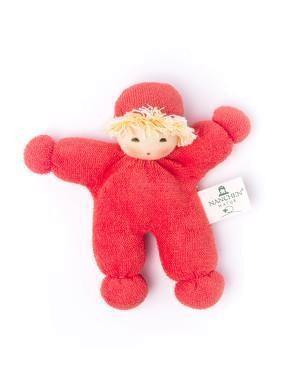 Nanchen Bio Puppe Püppchen ERBSENKIND in rot