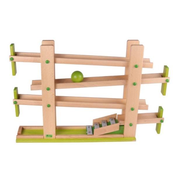 Klappen-Kugelbahn aus Holz mit Glockenspiel von Beck