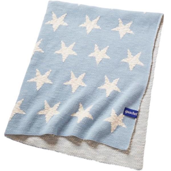 quschel Bio Babydecke Himmel voller Sterne in blau GOTS