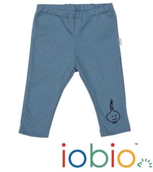 iobio Baby-Leggings in blau grau mit Applikation