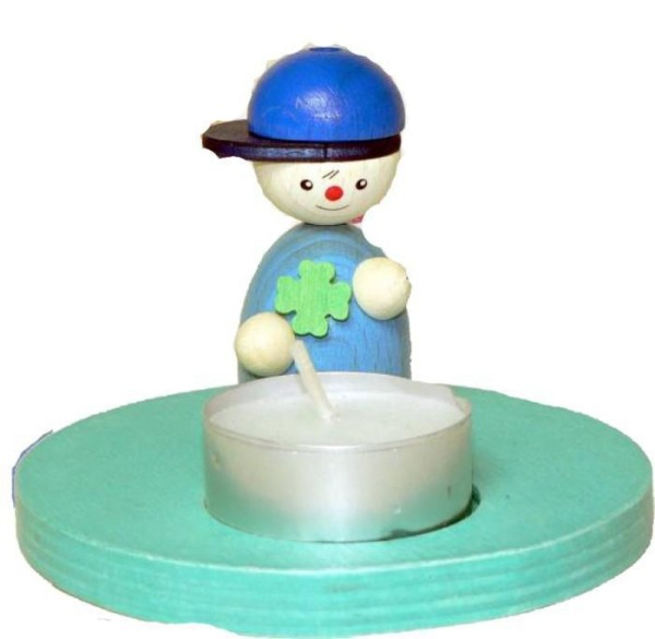 Geburtstagsfigur TOM mit Teelicht für Jungen von Hess Holzspielzeug