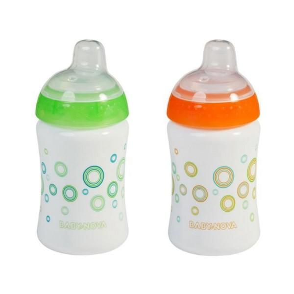 Trinkschnabel Trinkbecher Tropf-Stopp mit Schutzkappe 285ml - Baby-Nova