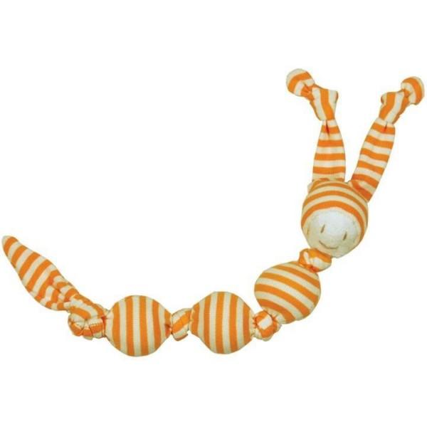 Baby-Rassel Toddel SNEEKY gelb aus Bio Teddyplüsch von Keptin