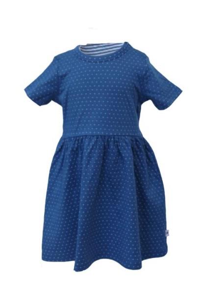 Sommerkleid Kleidchen Pünktchen Blau-Weiß von Leela Cotton