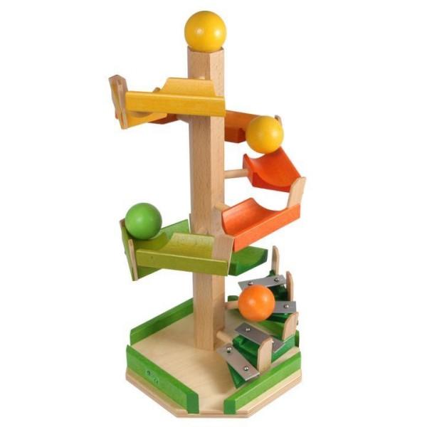 Treppen-Kugelturm mit Glockenspiel von Beck-Holzspielzeug