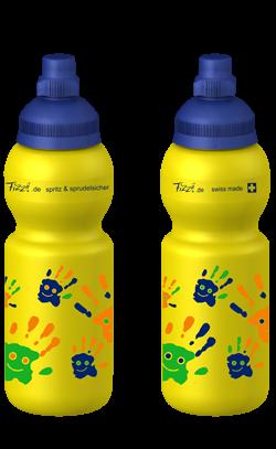 Fizzii Trinkflasche für Kinder 330ml in gelb Kohlensäurefest