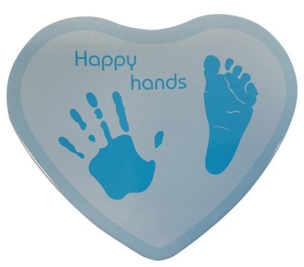 Hand & Fußabdruckset HAPPY HANDS für Jungen in blau