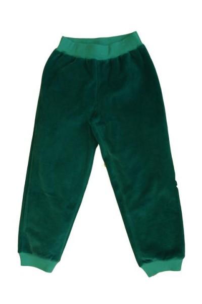 Leela Cotton Kinder Nickyhose in smaragdgrün aus Bio-Baumwolle